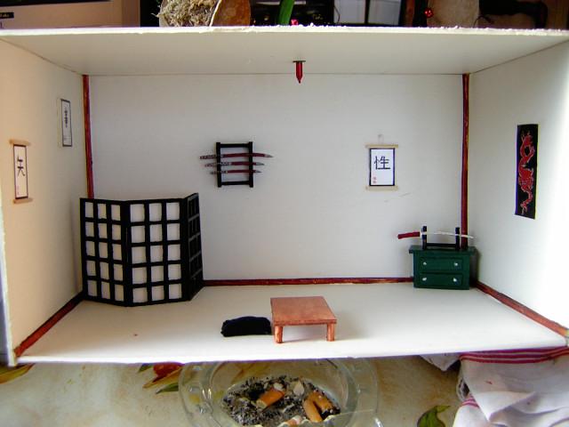 maquette salon japonais